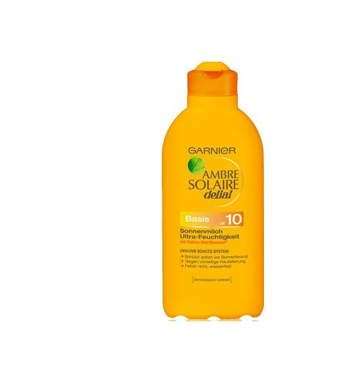 Garnier ambre solaire dalial Μεσαια Προστασια Αντηλιακό γαλάκτωμα Extra Ενυδατικό SPF 10 400ml