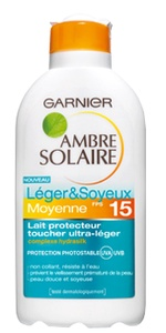 Garnier ambre solaire Μεσαια Προστασια Αντηλιακό γαλάκτωμα μεσαίας προστασίας SPF15