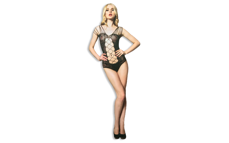 4232756eb99 Sexy Εσώρουχο Σέξι Κορμάκι σε Μαύρο χρώμα με λεπτομέρειες λουλουδιών και  μεγάλο δίχτυ στο μπροστά μέρος και στην πλάτη, Moze 8810 | Sexy Εσώρουχα ...