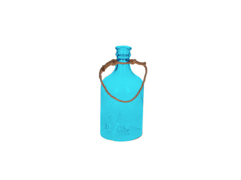 b1743109bdf9 Arti Casa Γυάλινο Διακοσμητικό Μπουκάλι με 5 LED φωτάκια και λαβή από  σχοινί