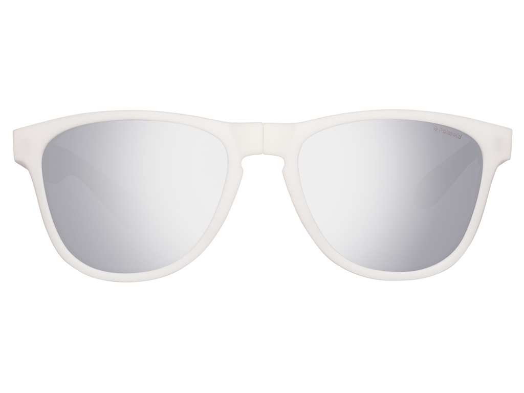 9f8be4b5d8 Polaroid Unisex Γυαλιά Ηλίου με Λευκό Αναδιπλούμενο σκελετό