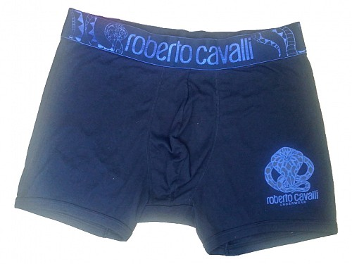 c72ba16478d Ανδρικό Μποξεράκι Roberto Cavalli με λογότυπο στο λάστιχο σε σκούρο ...