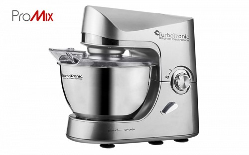 TurboTronic kithen machine, stand mixer 1500 Watt with stainless steel bowl 4.5lt, TT-002
