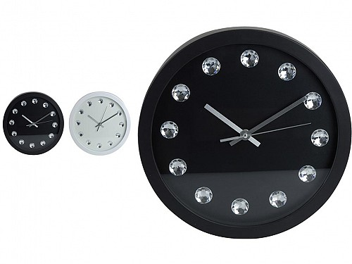 Wall clock with diamond numbers, in 2 colors, diameter 30 cm, 837164270