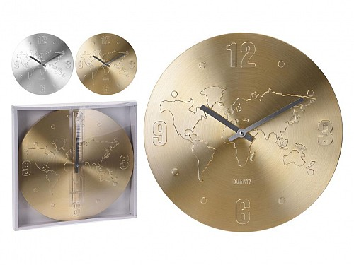 Wall Clock with world, diameter 35 cm, YP7165030