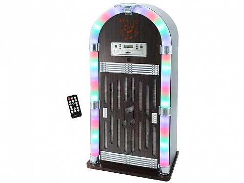 Retro Jukebox 2x30W Speaker with CD, FM Radio, Remote Control and Bluetooth