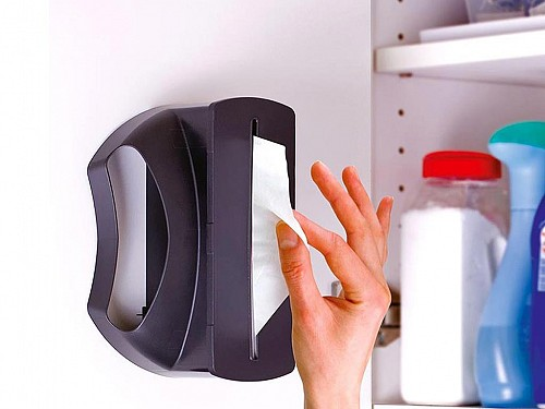 Trash Tidy Dispenser Case for Trash, Cabinet, Wall or Bucket