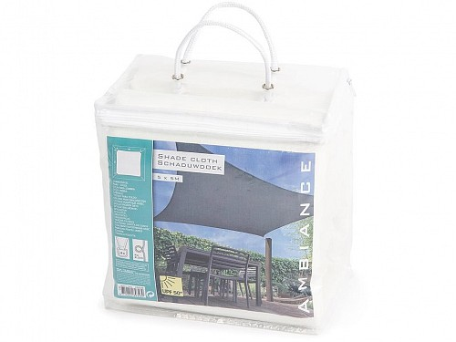 Sunshade Square Polyester Sunshade Awning in White, 5x5 m