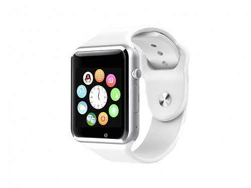 Smart Watch for IOS and Android in white with LCD screen, A1