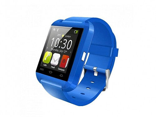 Smart Watch with Bluetooth V3.0 + EDR blue color, 47x40x11mm