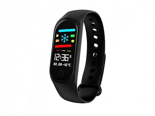 Smart Watch with Digital Touch Screen and IOS and Android Compatibility in Black, M4