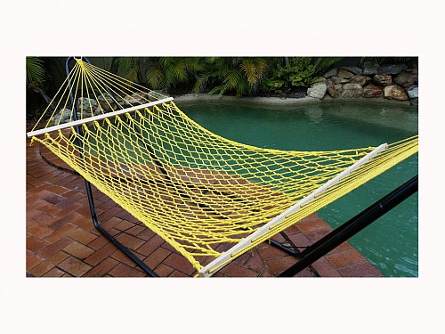 Hammock of 110kg net weight in white, 270x80 cm