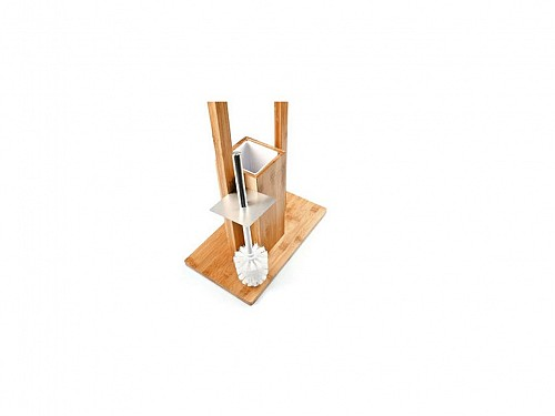 Bamboo Base for toilet paper with Pigalle 2 in 1 made of bamboo wood, 31x21x80 cm